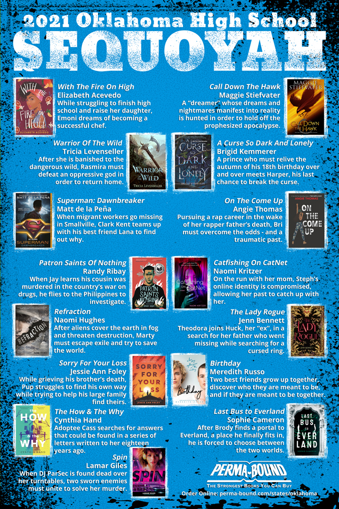 2021 Oklahoma High School Sequoyah Book Award Nominees