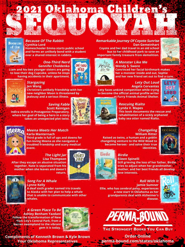 2021 Oklahoma Children's Sequoyah Book Award Nominees