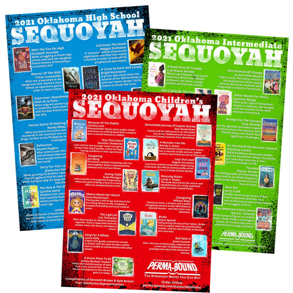 2021 Sequoyah Book Awards Poster - Brown Brother's Books